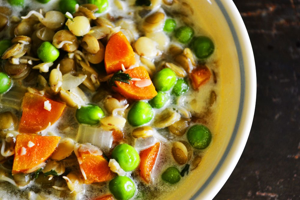 Quick and Easy Veggie Lentil Soup  by  Raia's Recipes