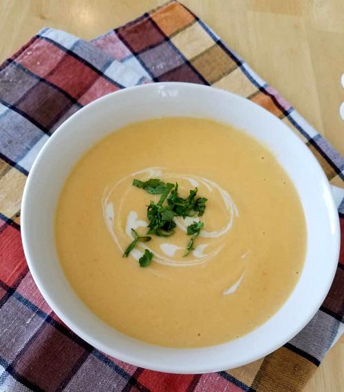 Savory Roasted Butternut Squash Soup  by  Backyard Garden Lover
