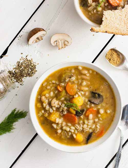 Vegan Butternut and Barley Winter Soup  by  Foodal