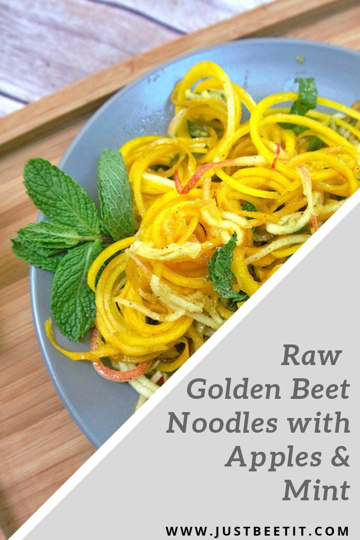 raw golden beet noodles with apples and mint.jpg