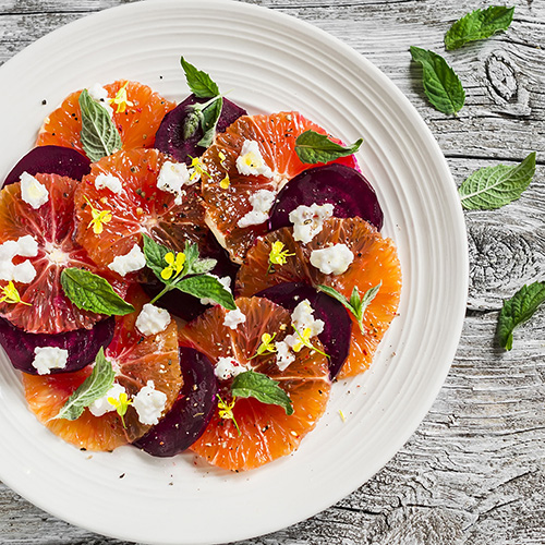 Beet Orange and Mint Salad