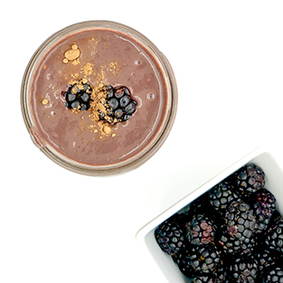 Beet, Blackberry and Raw Cacao Protein Smoothie (Vegan)