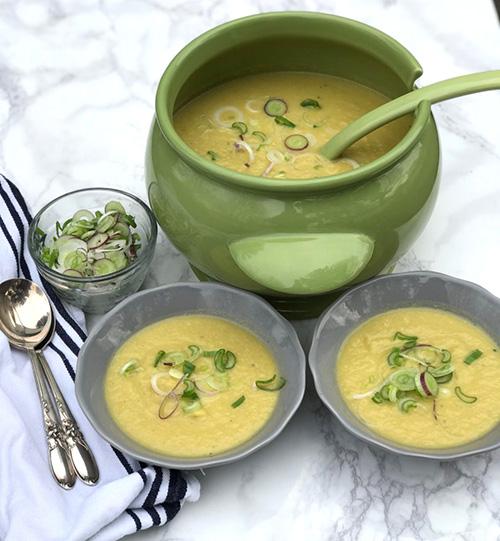 Cauliflower Leek Soup  by  Debra Klein
