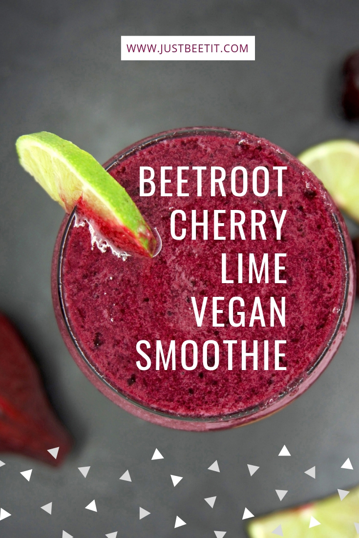 Beet Cherry Lime Vegan Smoothie Pinterest.jpg