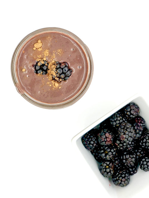Beet, Blackberry and Cacao Smoothie (Vegan)  by  Just Beet It   This super chocolatey smoothie is filled with healthy and sneaky beets and antioxidant-rich berries. Your kids won't suspect that it's healthy!