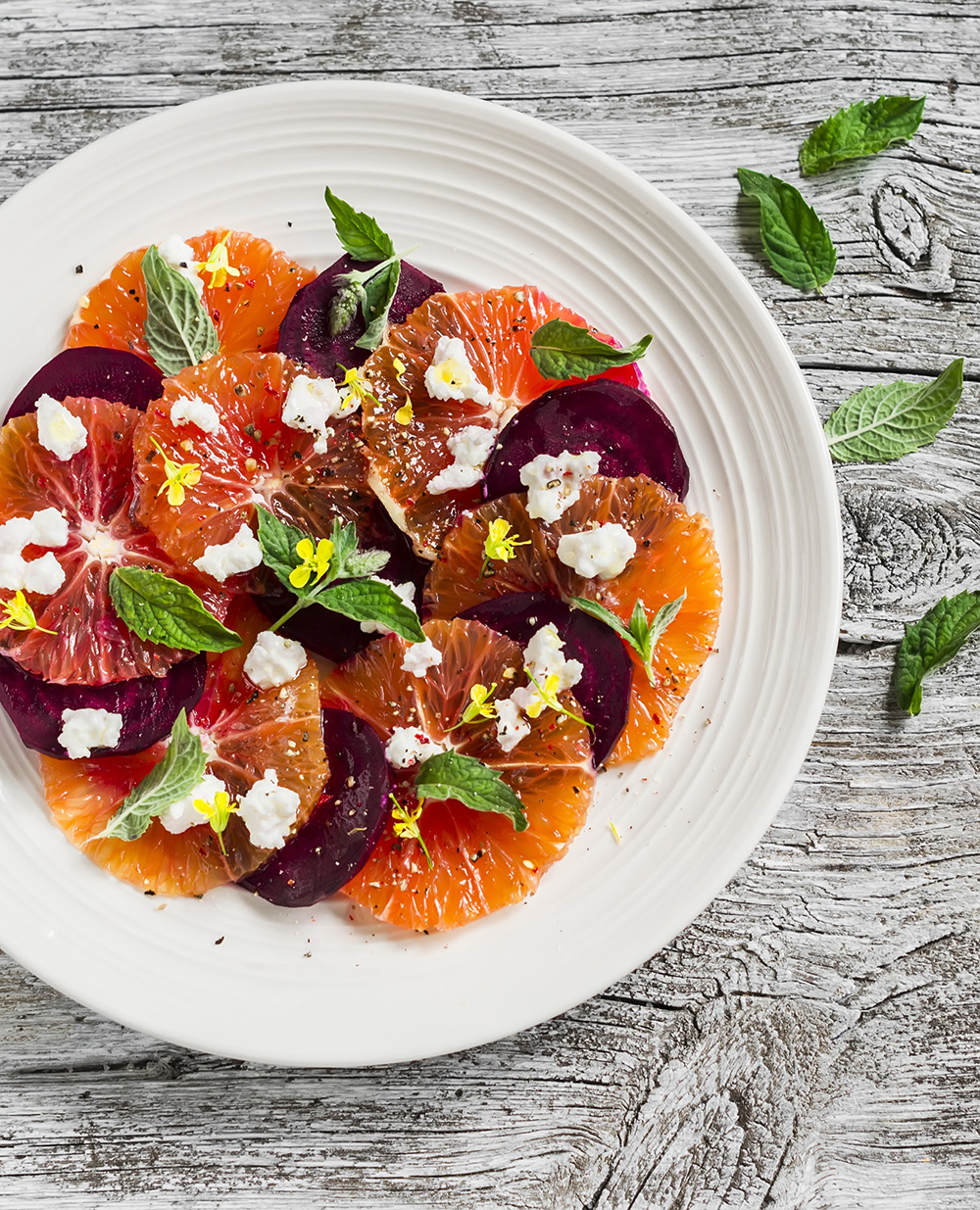 Roasted Beet, Orange, Mint and Feta Salad  by  Just Beet It