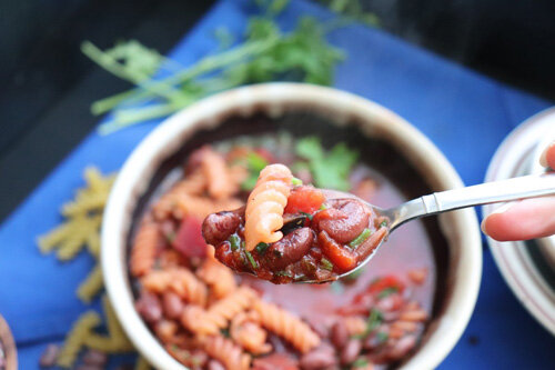 Easy Minestrone Soup with Beets  by  Very Vegan Val