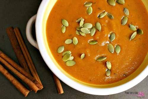 Ginger Pumpkin Bisque with Layers of Flavor (Gluten-Free / Vegan)  by  Pink Fortitude