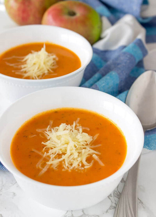 Fresh Tomato and Apple Soup  by  Natalie's Health