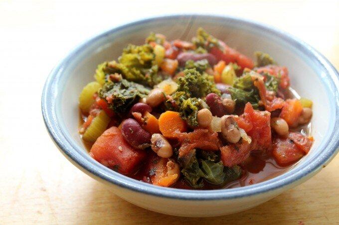 Comforting Veggie Bean Chili (Vegan / GF)  by  Strength and Sunshine