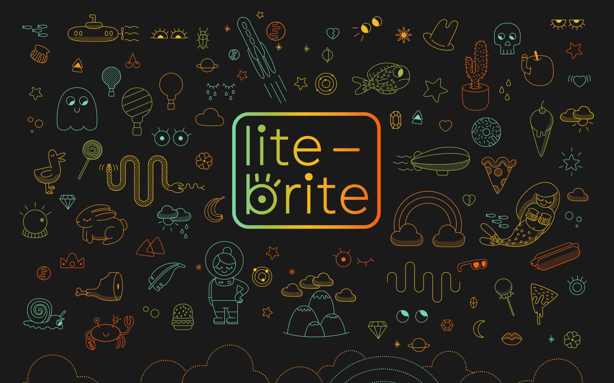 Lite Brite Landing page