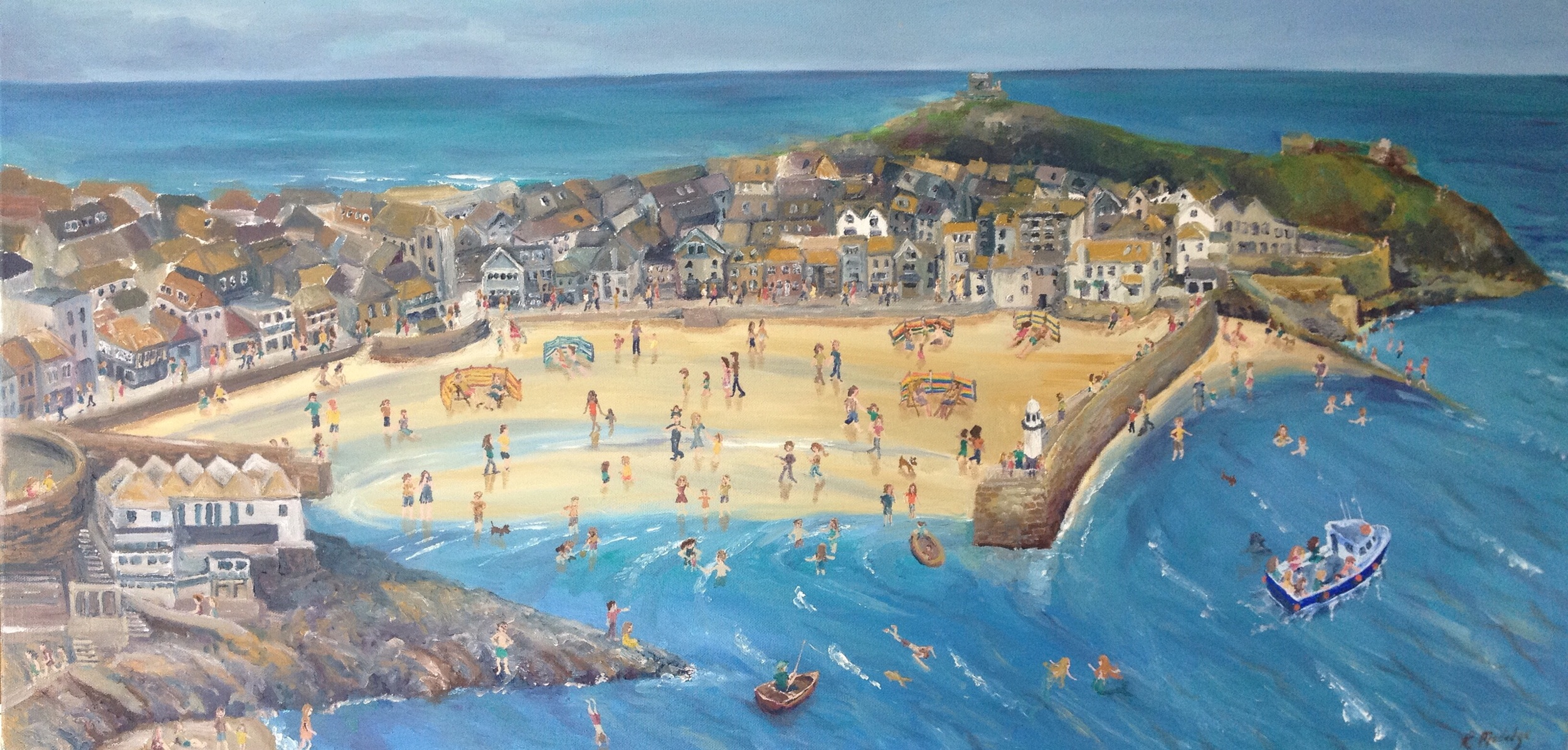 St Ives oil painting