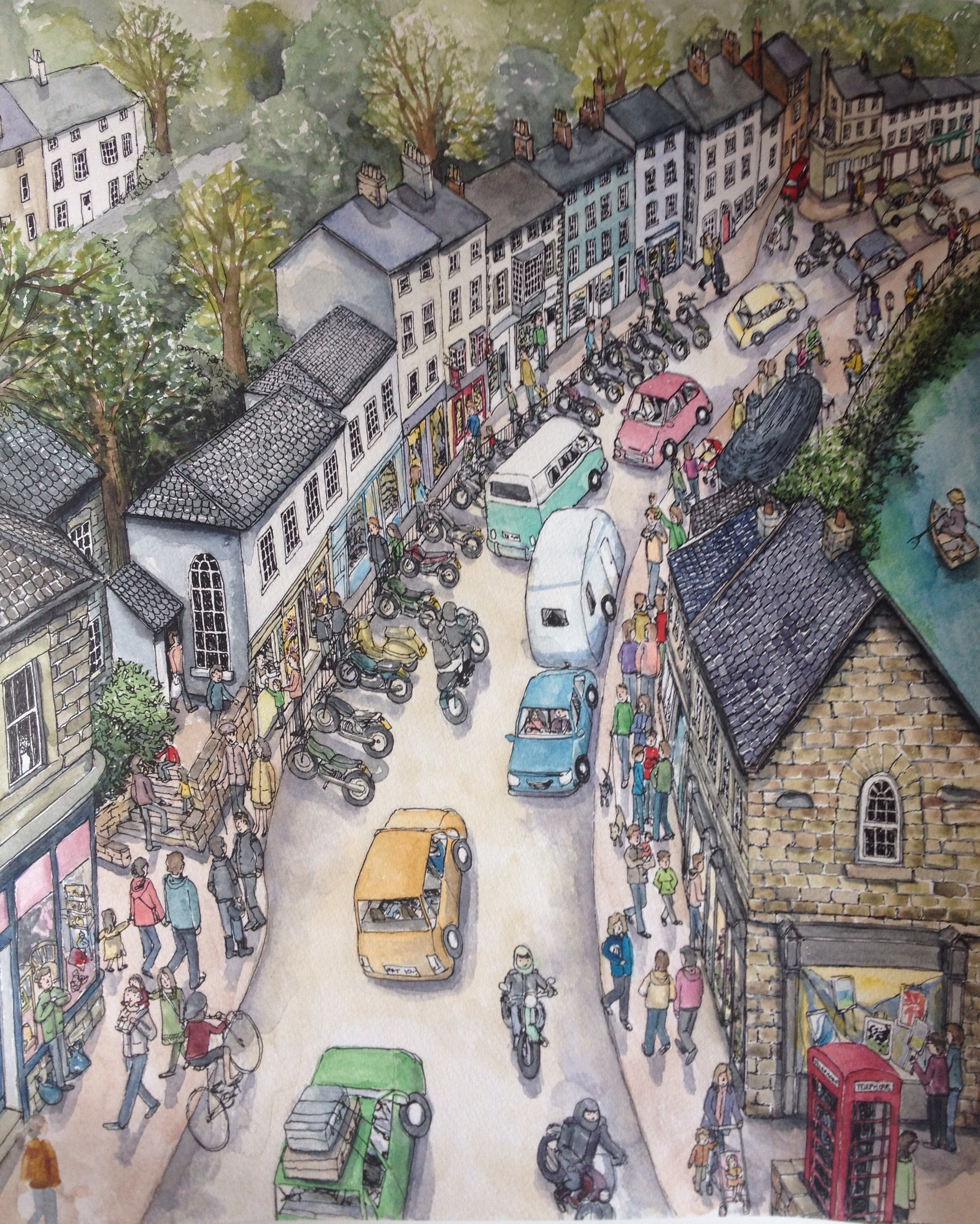 Matlock Bath now at the Derbyshire Open Art Competition, Buxton