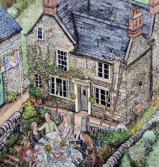 Another commission off to its new home #tissington #art #Illustration #houseportrait