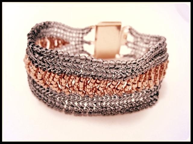 Herringbone Ladder Weave Bracelet