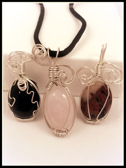 Wire Wrapped Cabochon Pendant