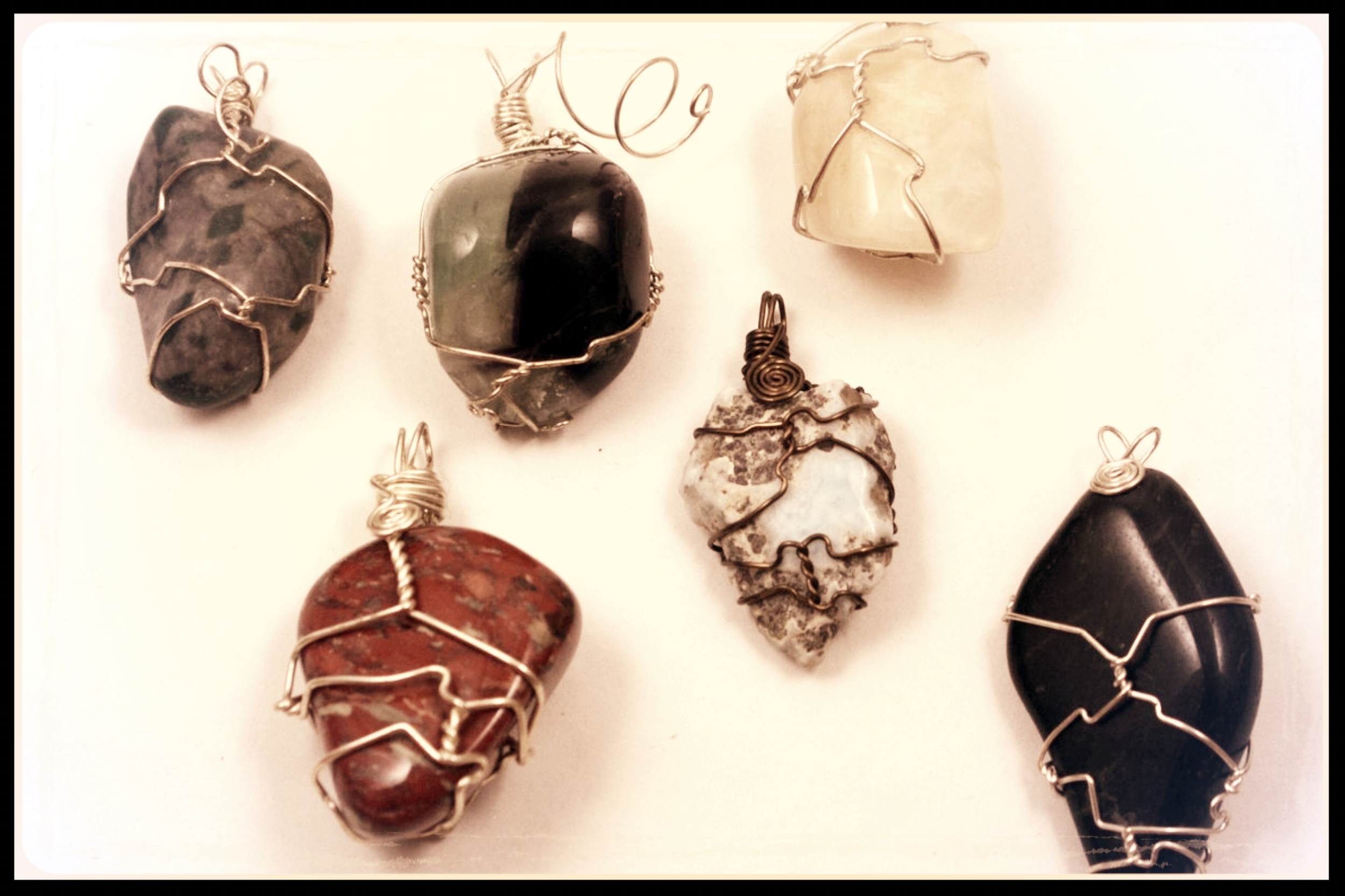 Wire Wrapped Tumble Pendant