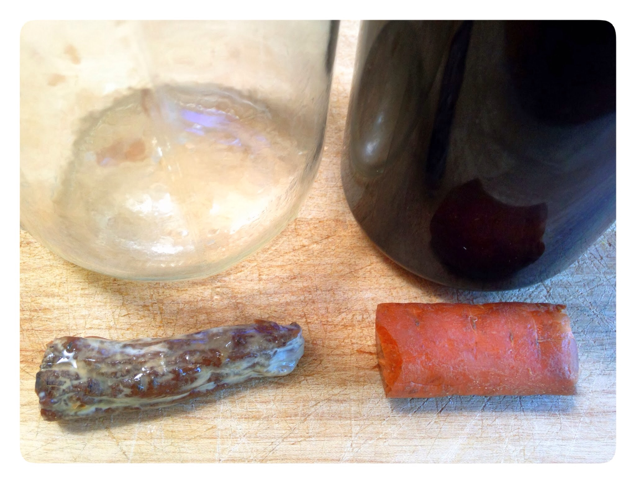 Carrot experiment in Miron glass at 4 months
