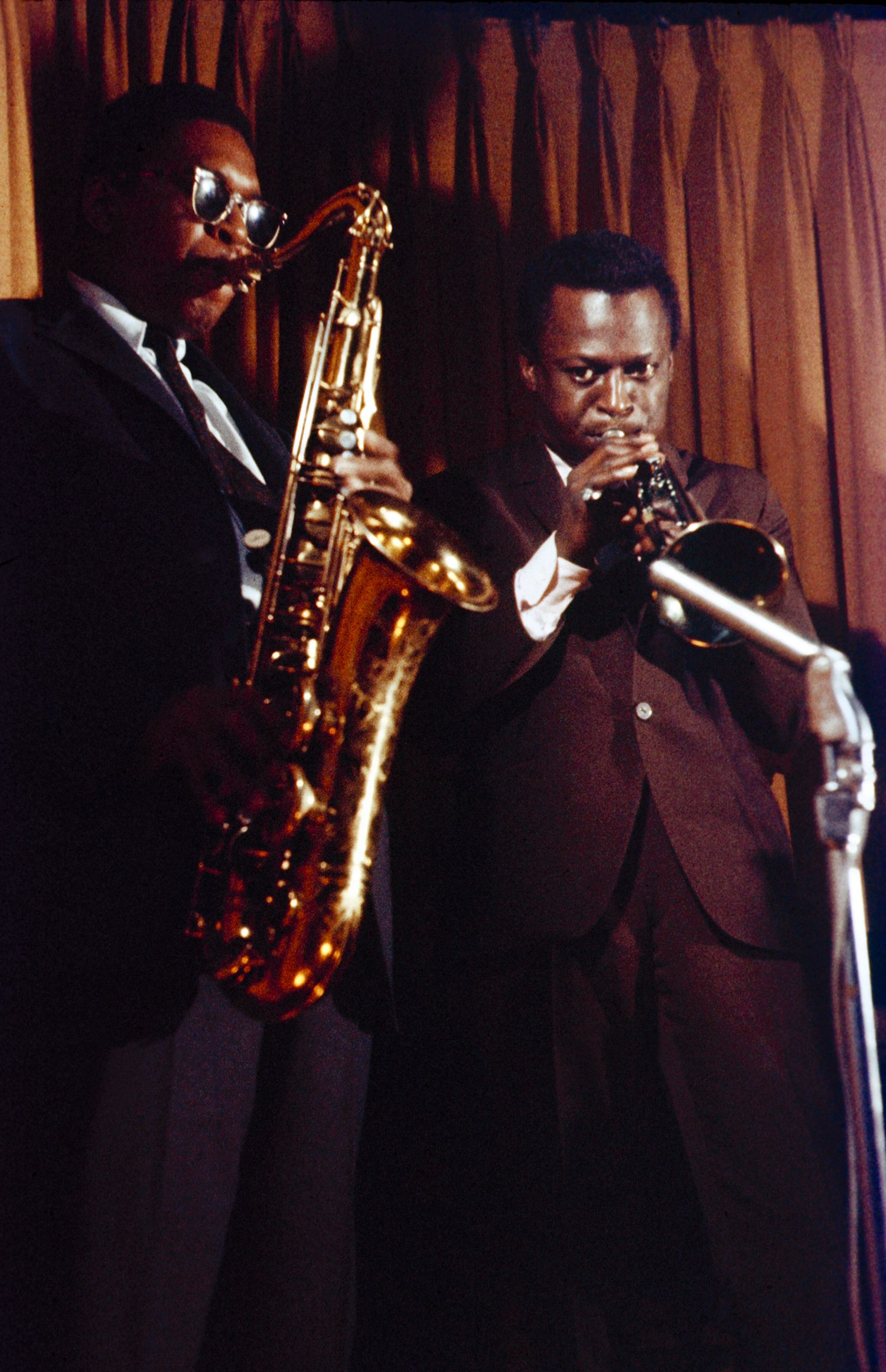 Coltrane playing with Miles in Europe