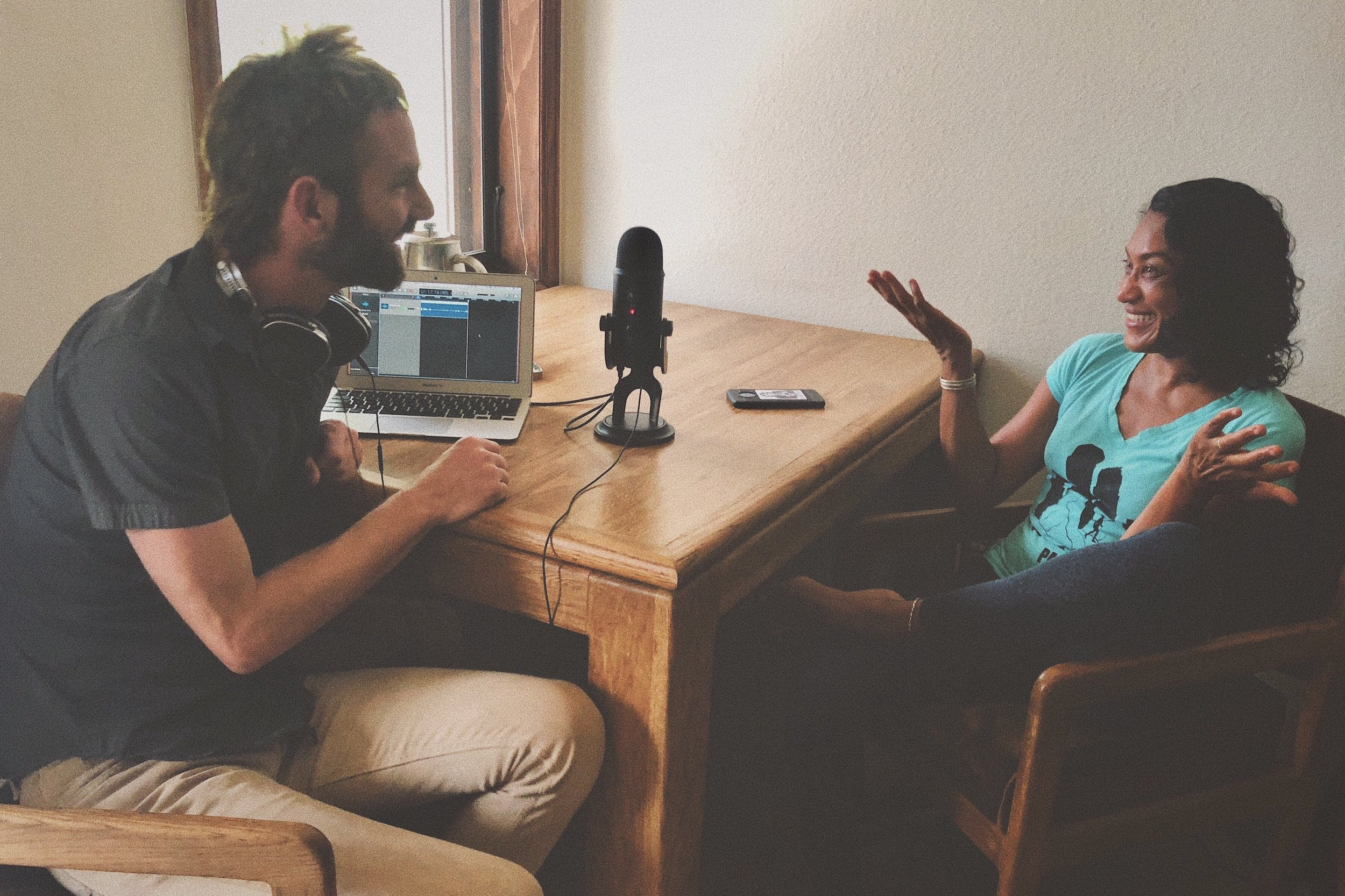 Podcast studio in Telluride