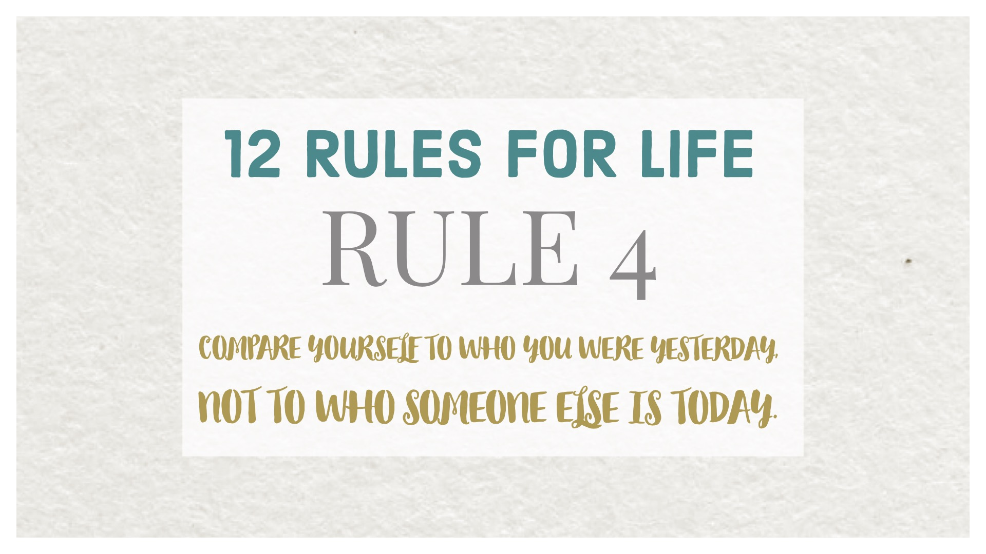 12 rules life