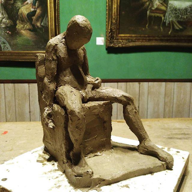 Sleeping man in Guatemala City  #sculpure #figurativeart #clay #traditionalart