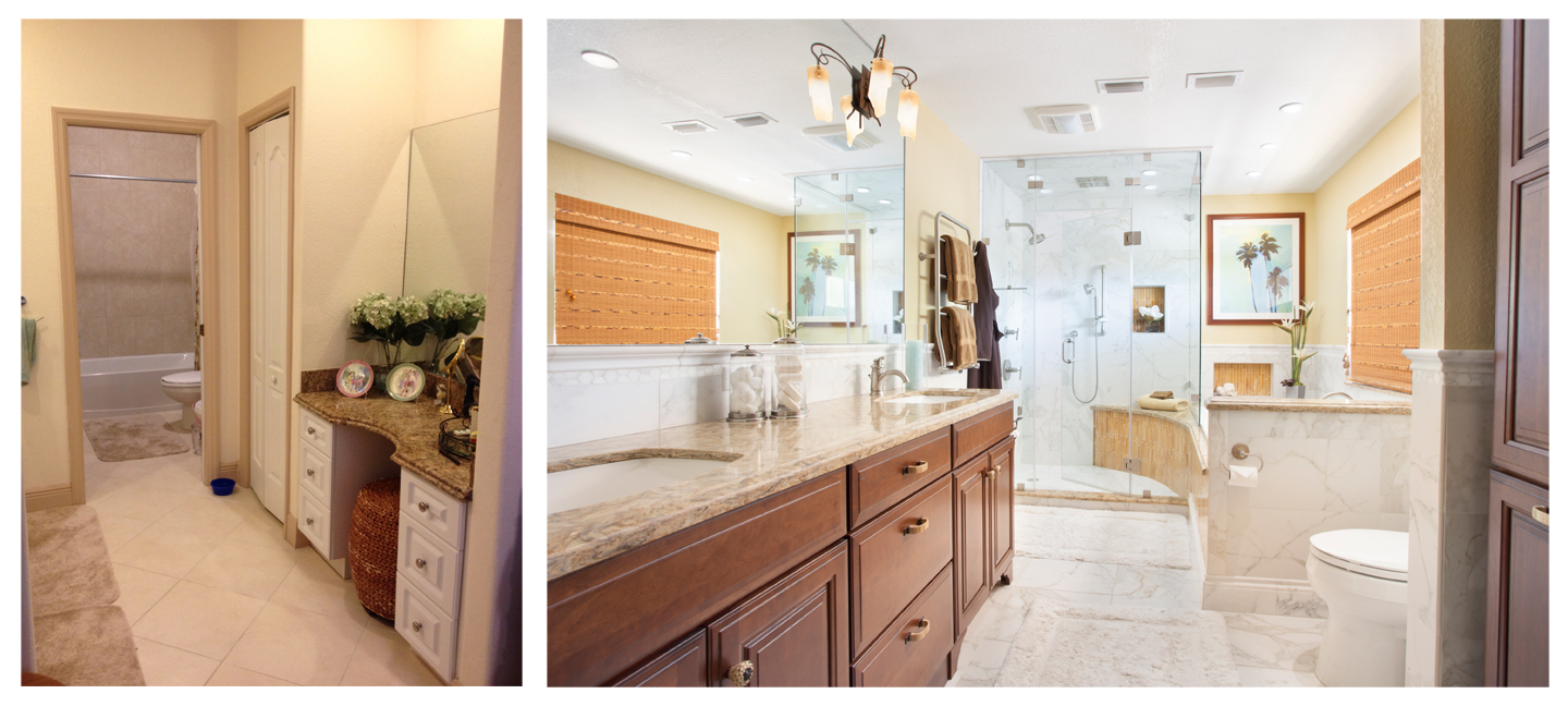 Before & After - Irig Master Bath