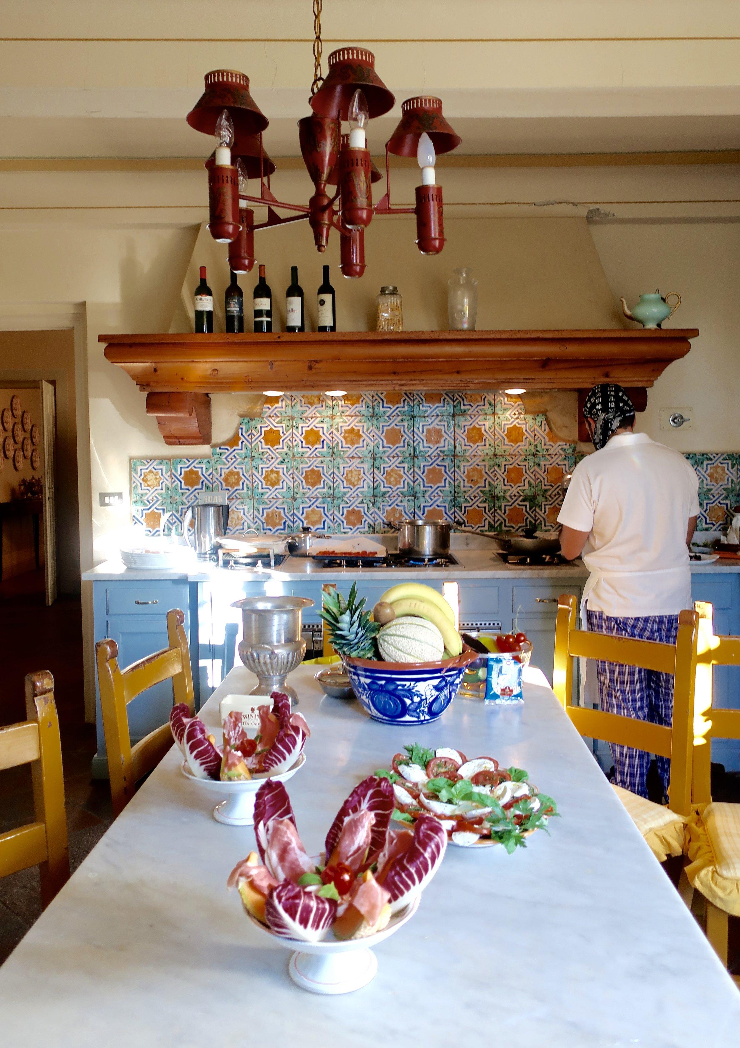 italian chef's kitchen