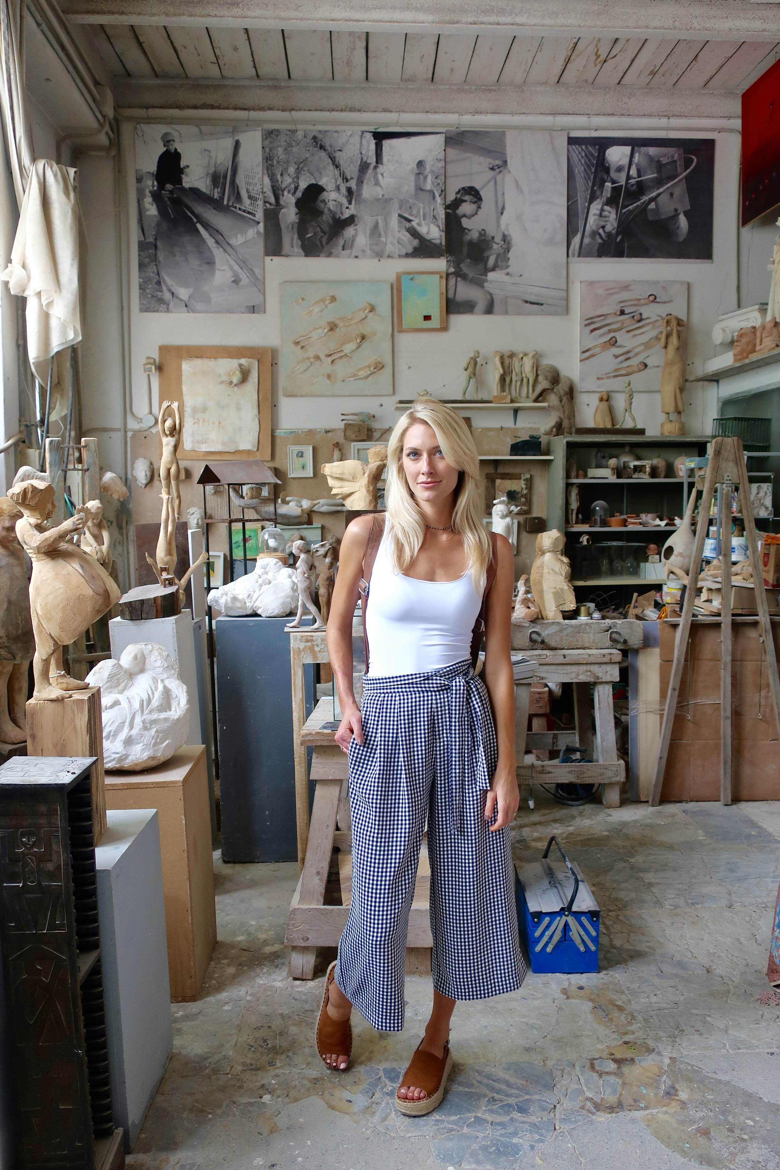 artist's studio in italy