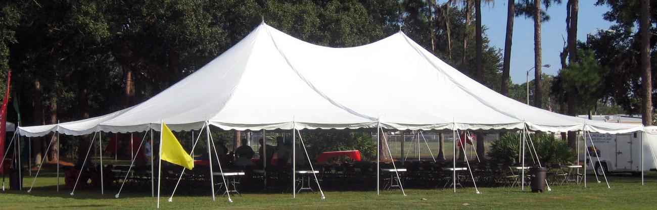 40x60 Pole Tent $950.00 40x40 Pole Tent $750.00