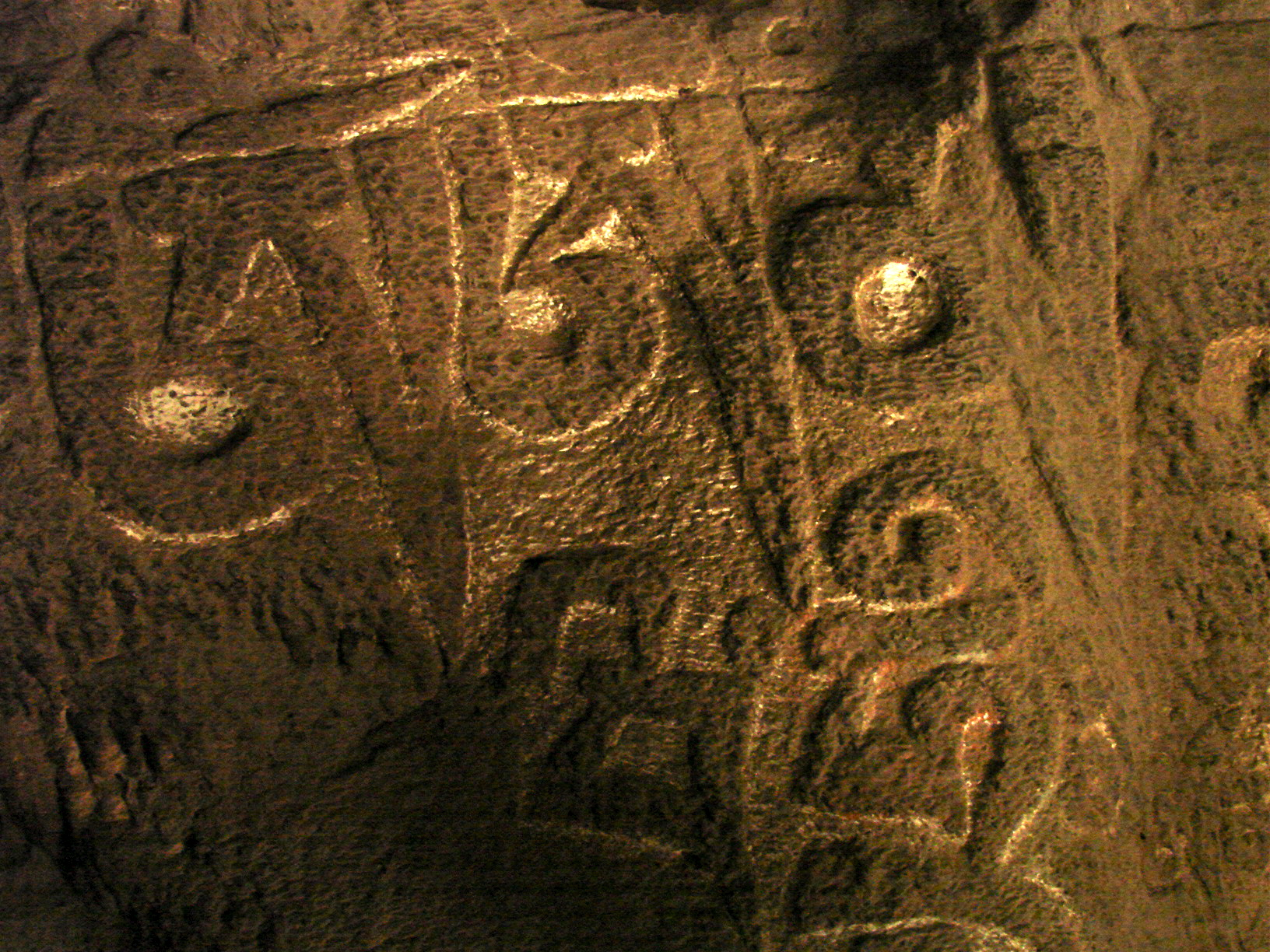 Prayer carved into Mani stone.   Photo by Amy Hahn.