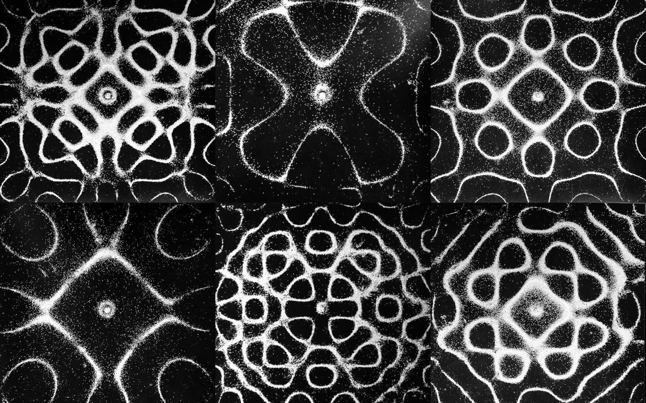 Chladni plates  vibrating sand