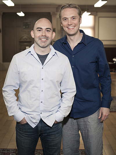 Super Evil Megacorp CEO Bo Daly, left, with new COO & Executive Director Kristian Segerstrale.