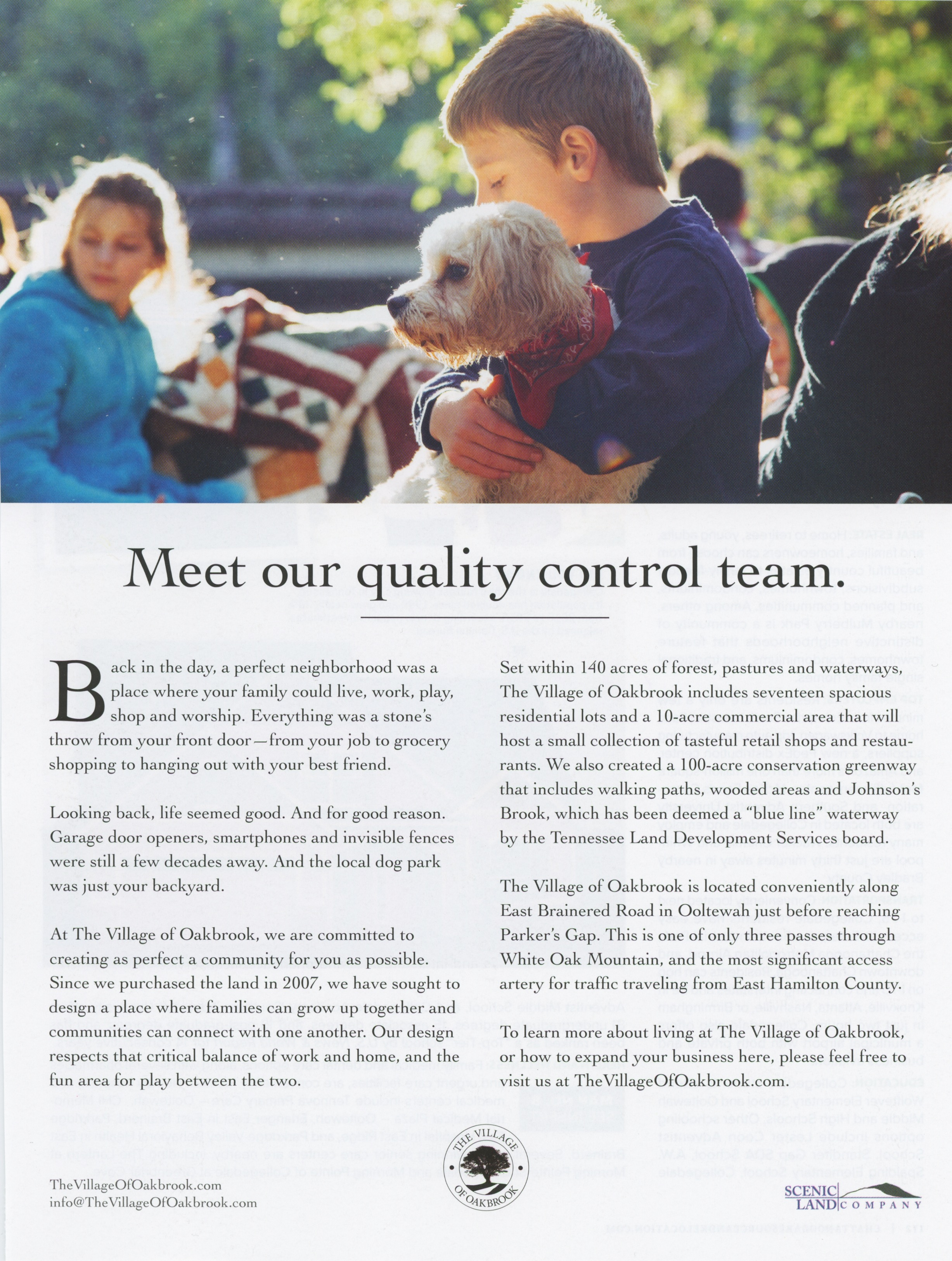 Featured ad in the Chattanooga Relocation Guide.