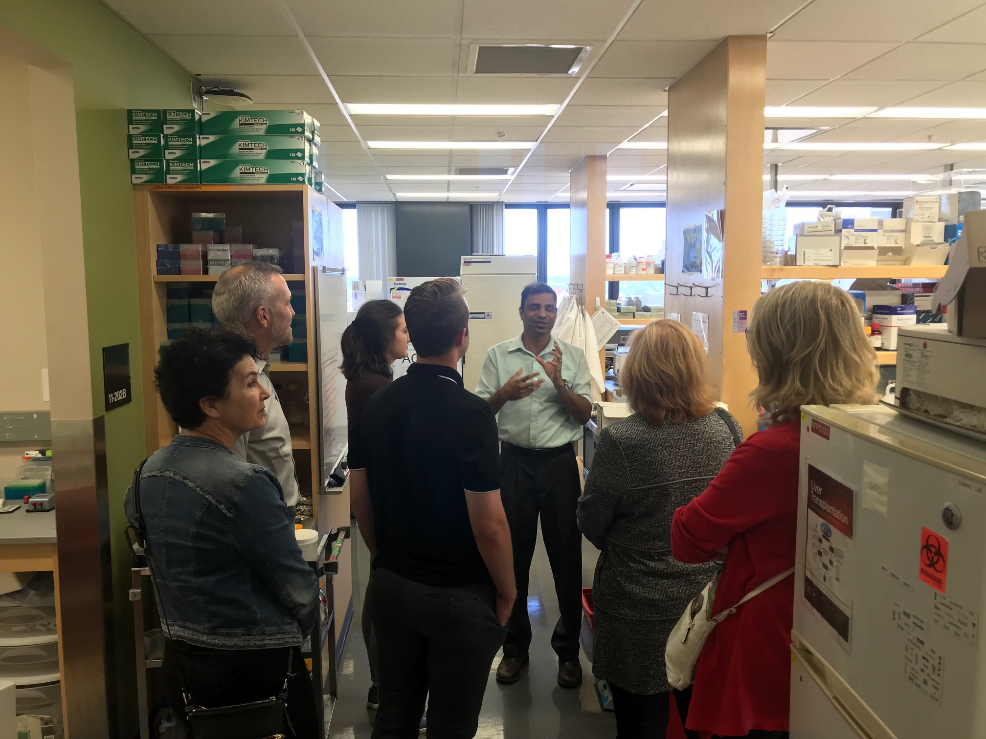 Dr. Subree Subramanian explained how the lab operates and introduced his talented staff.