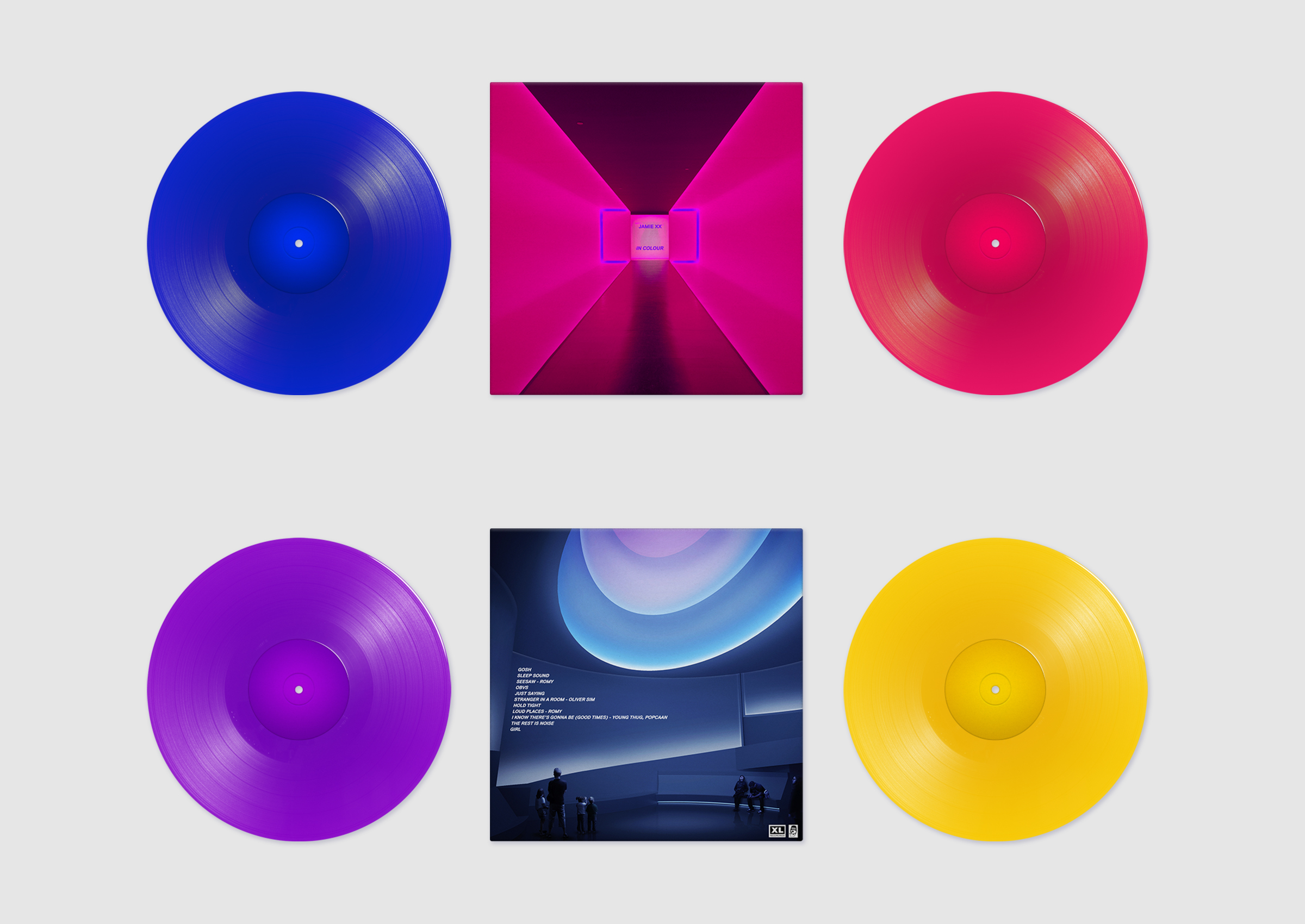 "Special edition vinyl of Jamie's album ""In Colour"""