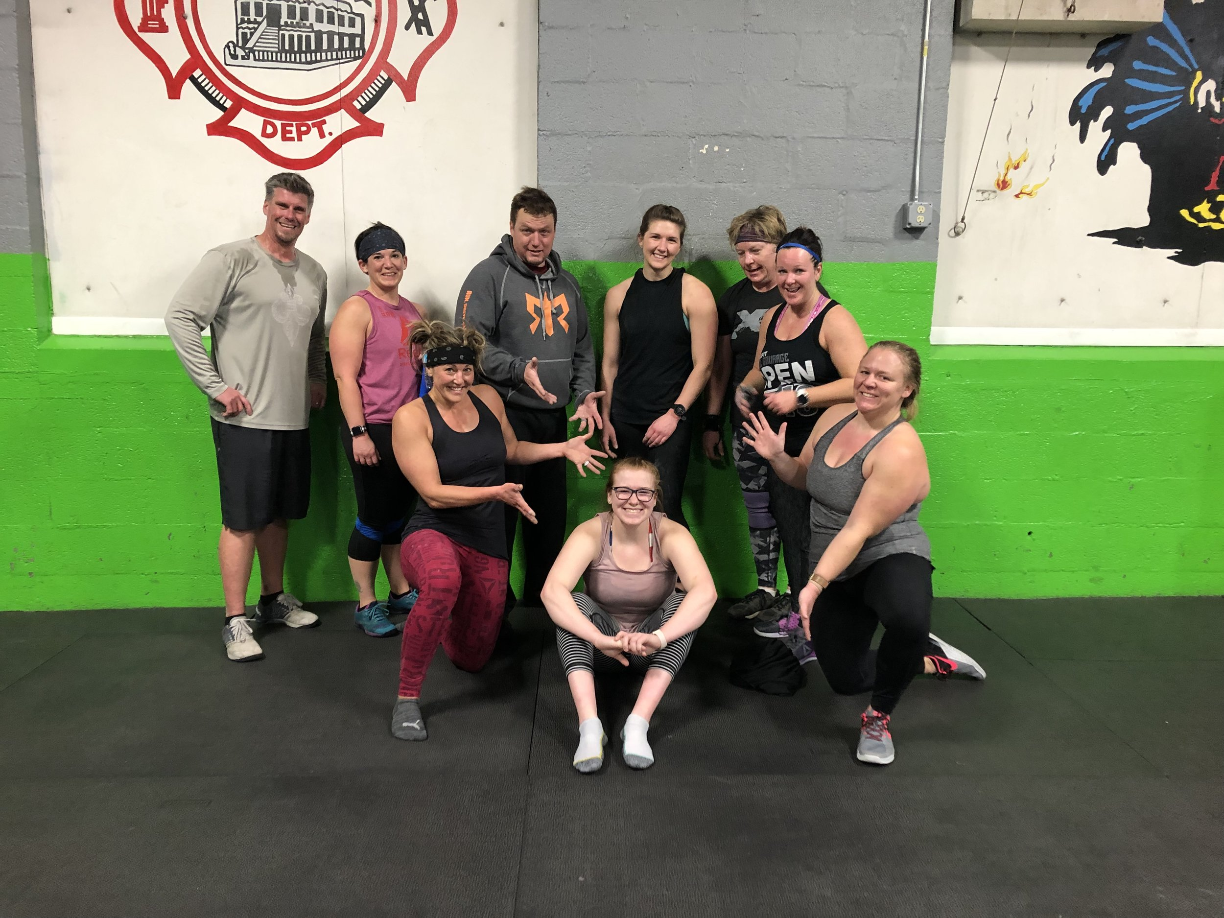 Class Times 5:15/8:30 & 6:00  Skill Muscle Up Progressions     MOD - EMOM 10  Odd ~ 6 TNG DL  Even - 8 Box Jumps 24/30     Wod: 15 AMRAP  30 DU  10 Thrusters 65/95  30 DU  10 SDHP 65/95