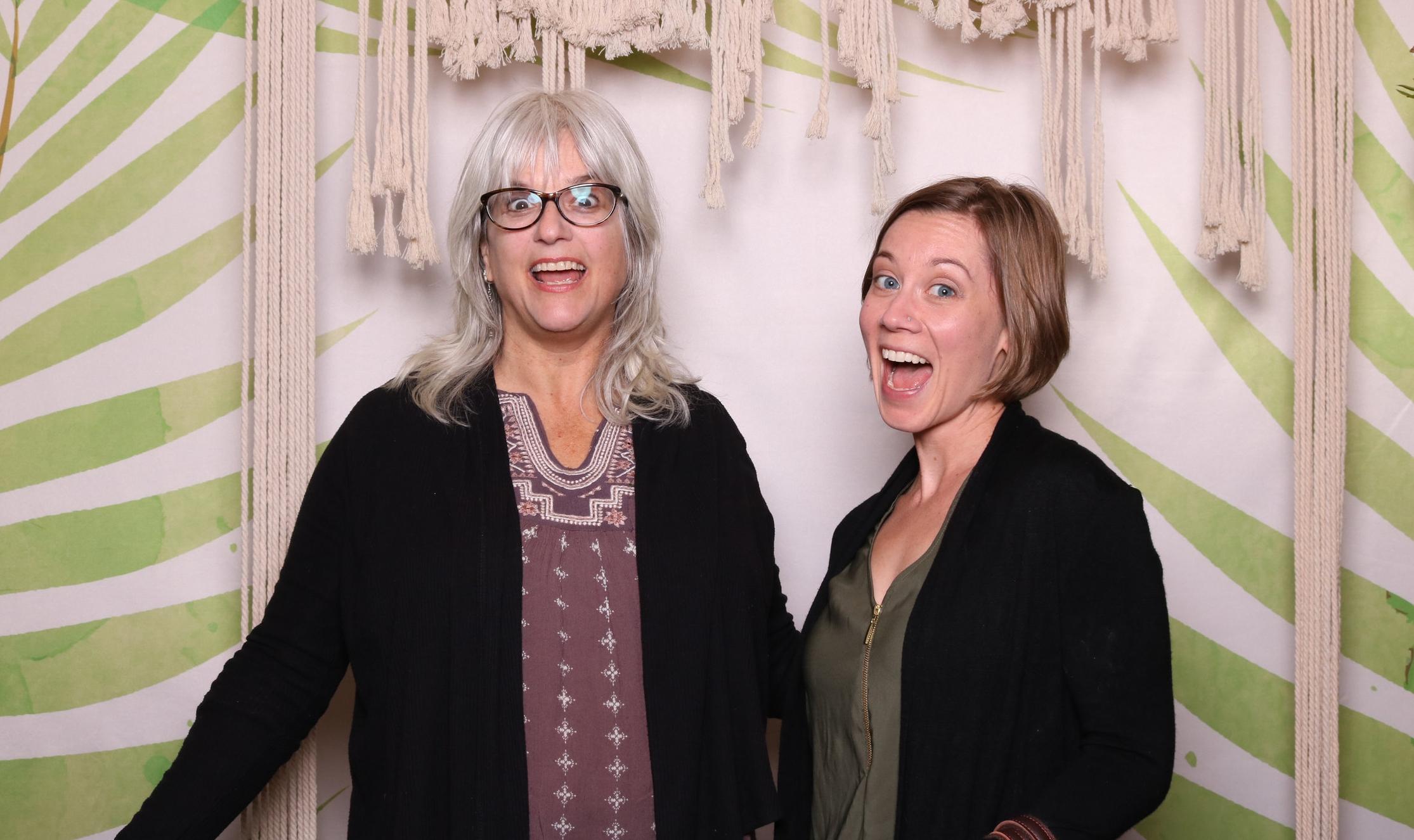 Kirsten and Heidi Calderon, design assistant and tile expert!