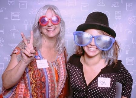Kirsten Flynn, principal designer, and Ricki Anderson, design assistant.