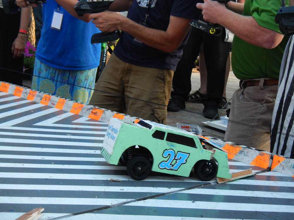 Rural Renewable Energy Alliance's car after winning the Championship.