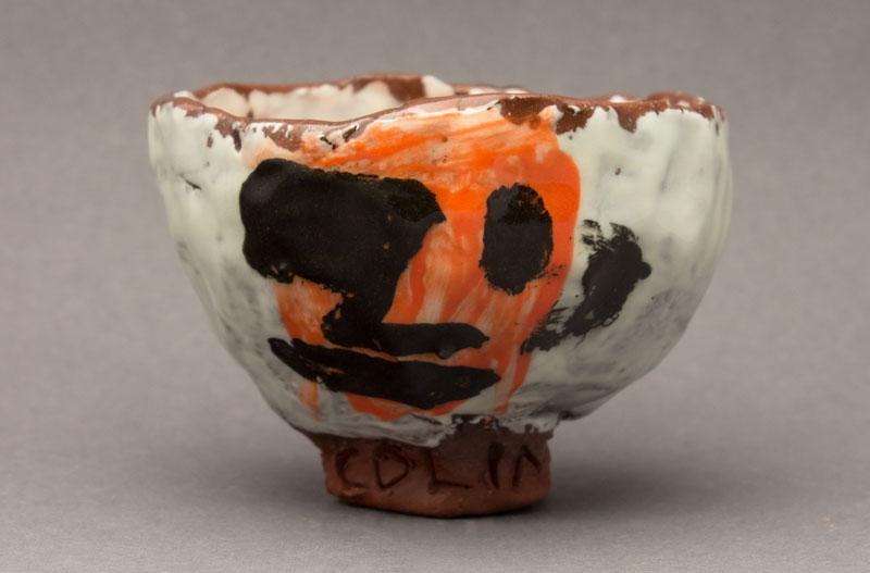 Teabowl 15113, handbuiltterra cotta, 2.75x4.5x4.5in, 2015