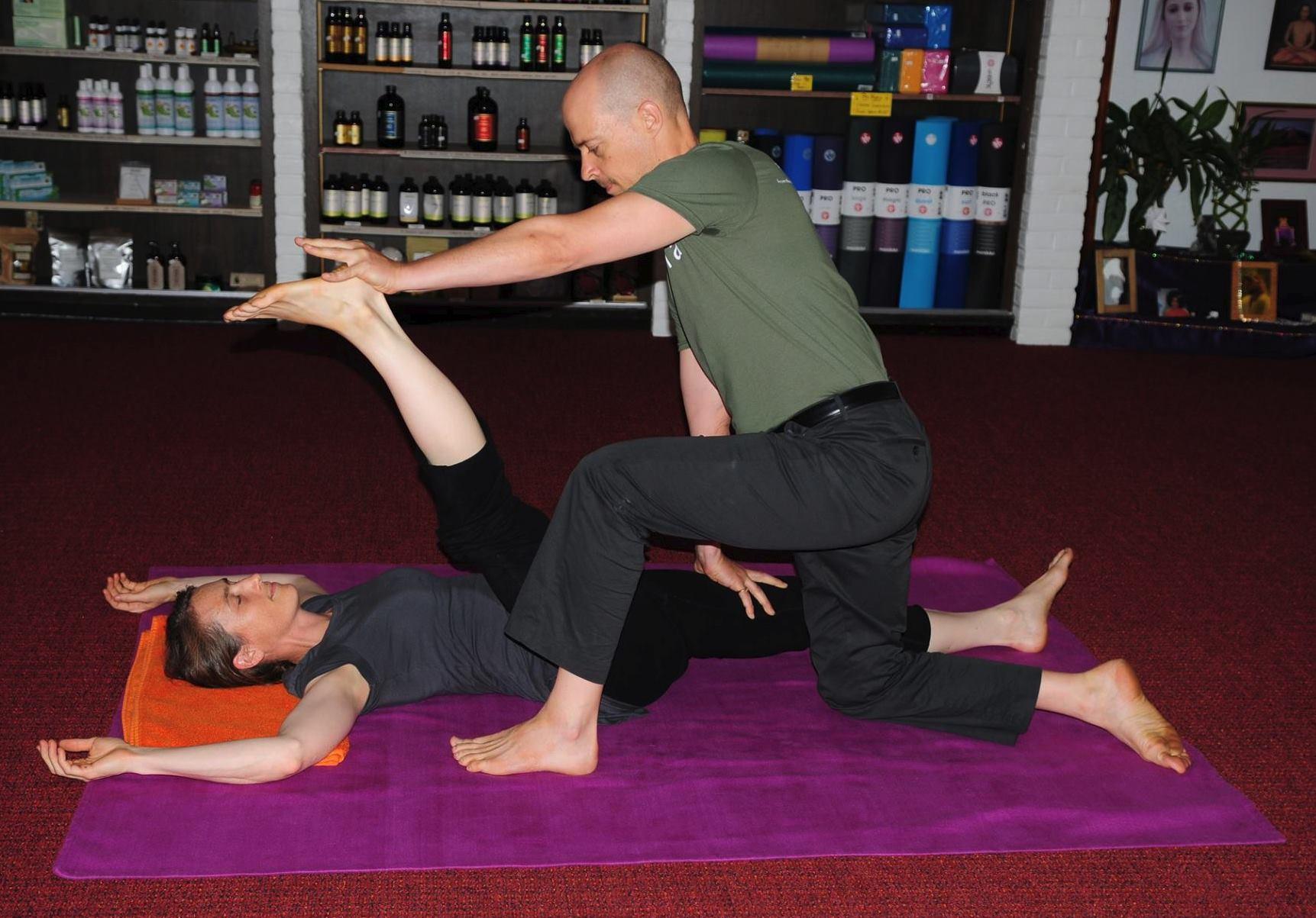 yoga assisting posture