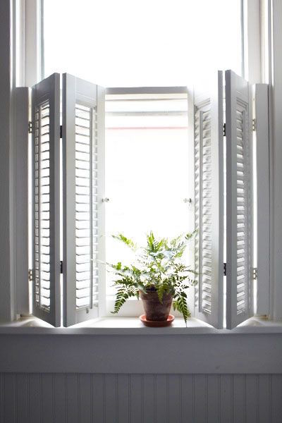 Half height plantation shutters allow the best of both worlds in terms of giving a classic look, while still allowing precious natural light to flood in.