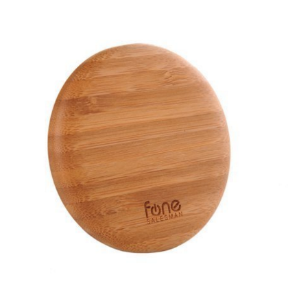 WoodPuck: Bamboo Edition Qi Wireless Charging Pad