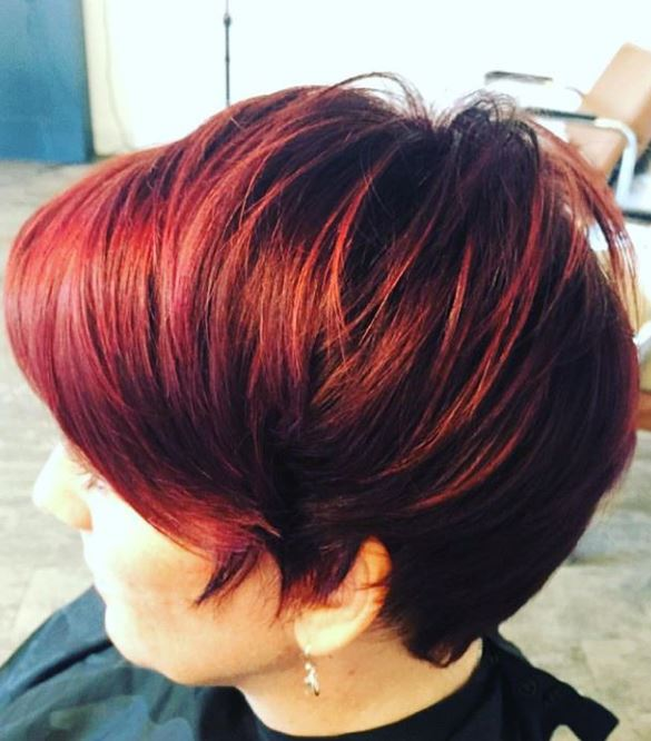 Hair Coloring Red Cut Splice
