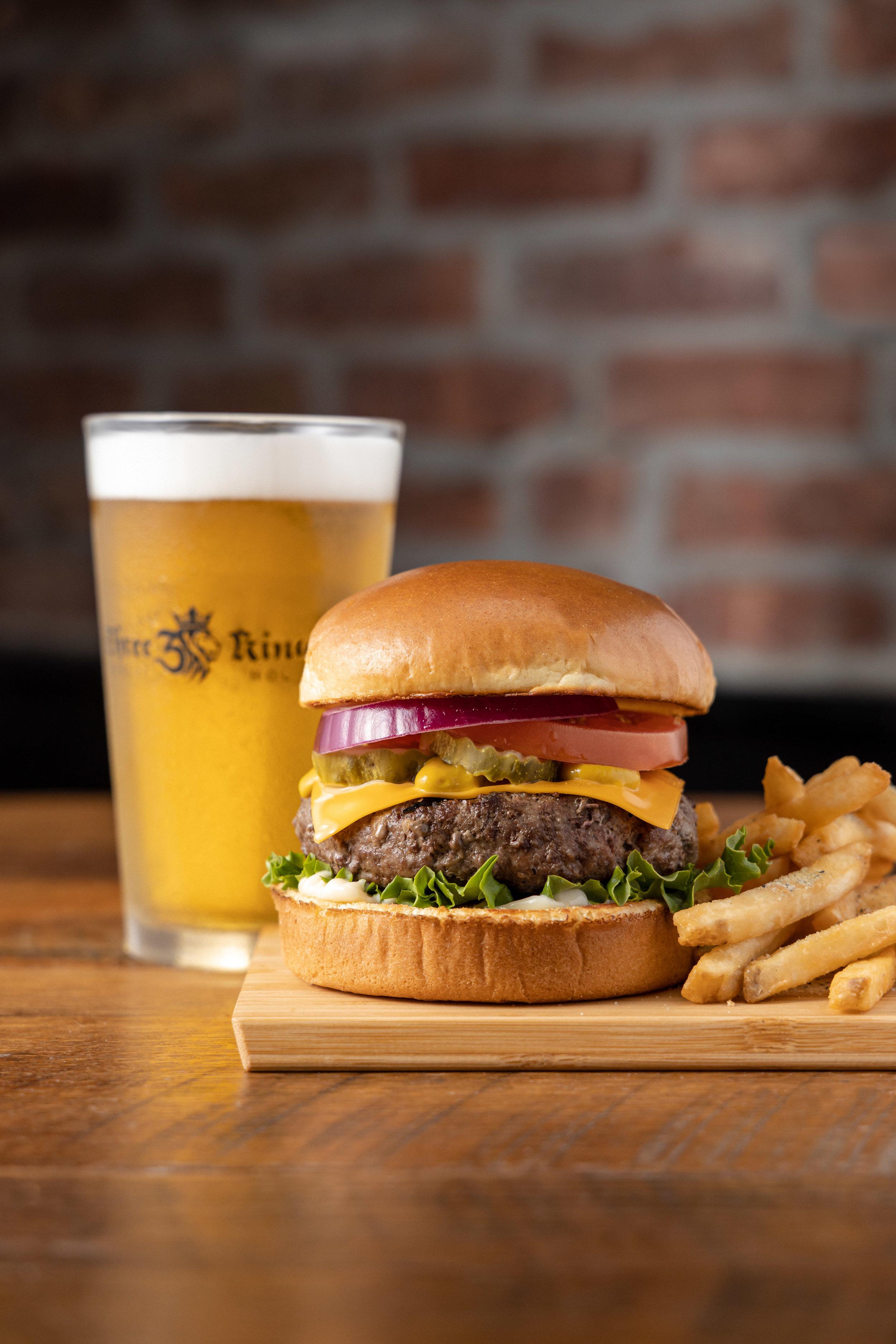Three Kings Burger and 4 Hands Beer