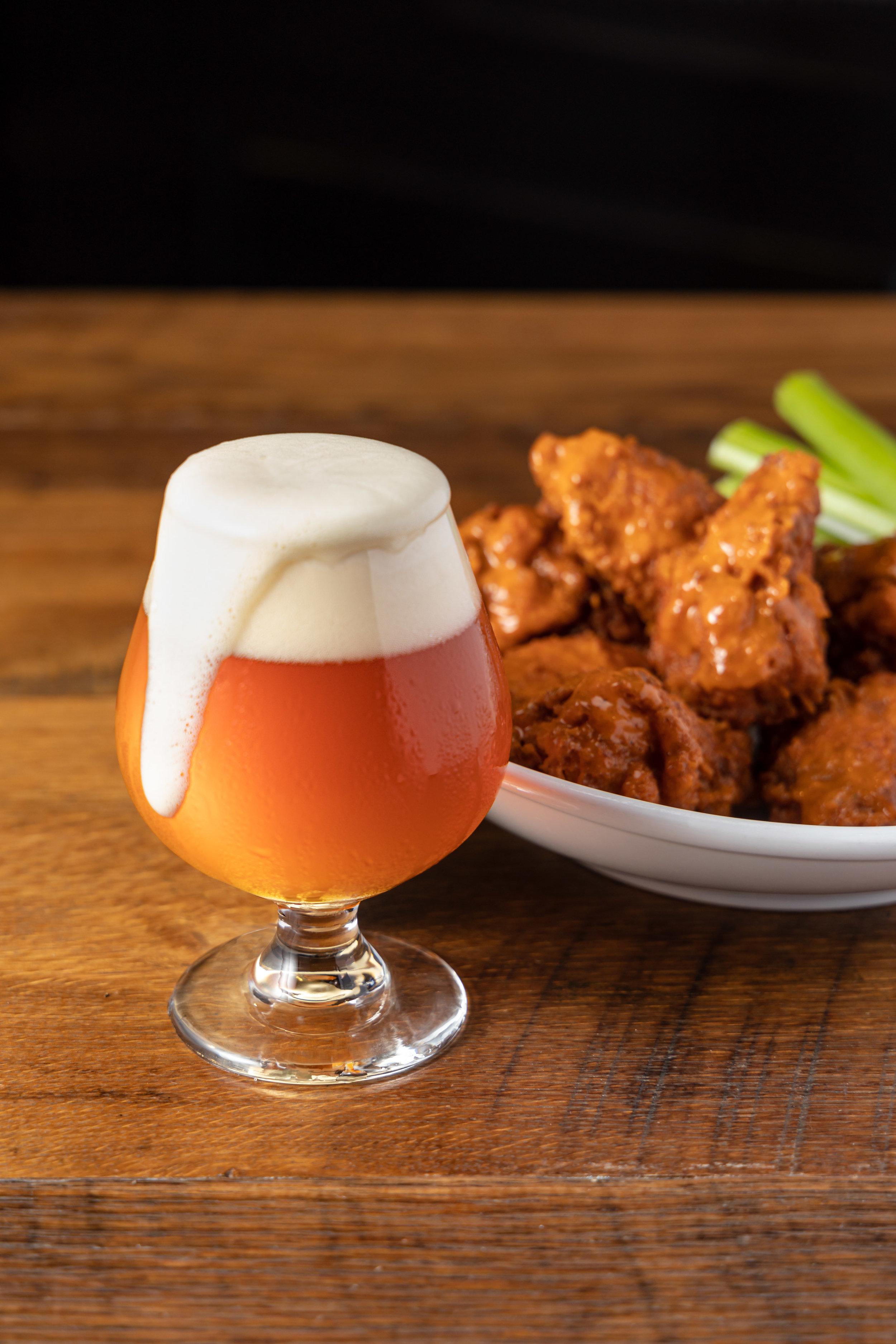 Three Kings Buffalo Wings and 4 Hands Beer