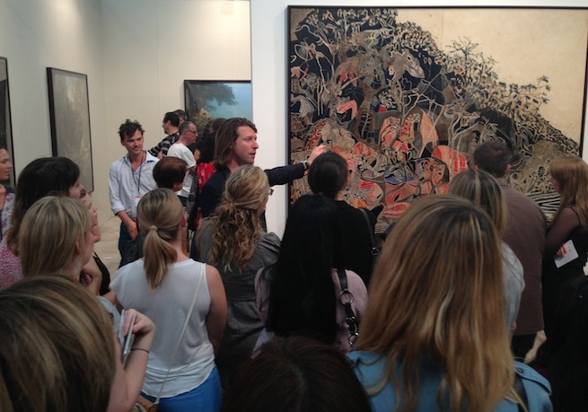 Yesterday, I gave a tour of the Sydney Contemporary Art Fair for a group of MCA Young Ambassadors. As I said as the group assembled in the VIP area, I could speak to some of the works on show with knowledge and confidence. To others, I had a much more intuitive reaction. I think both those approaches are legitimate, in fact important. The Young Ambassadors are between 20 and 40 years old, obviously interested in art – and many are beginning to assemble their own collections. What I try to do is open up layers of meaning in a work, be they aesthetic, historical, political, sociological or questions of technique. My goal is to get those light bulbs popping off over people's heads. Suffice to say, at the Fair there was much food for thought. Here are three of my favourite things…