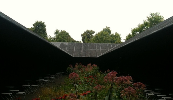 Leaving the Pavilion, I feel refreshed, invigorated. London? Bring it on!  The Serpentine Pavilion will remain on display until 16th October 2011 – http://www.serpentinegallery.org/2011/04/serpentine_gallery_pavillion_2011_zumthor.html