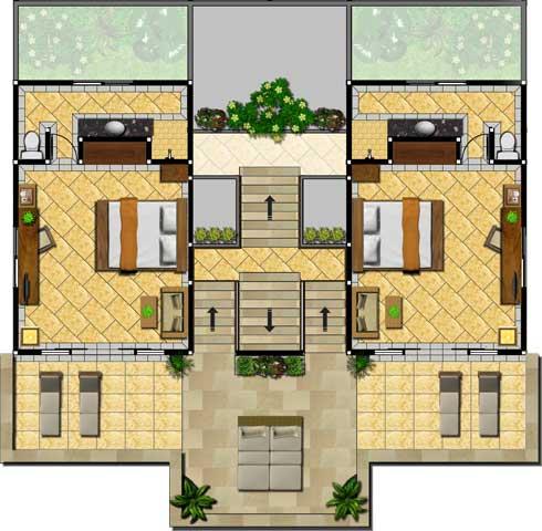 Lumbung Seaside Rooms First Floor Floor Plan